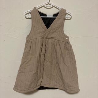 フタフタ(futafuta)の韓国子供服 キルト生地ワンピース 80-90cm(ワンピース)