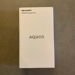 アクオス(AQUOS)のAQUOS sense 4 lite ブラック 4GB 64GB SIMフリー(スマートフォン本体)