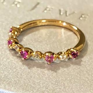 STAR JEWELRY - k18 スタージュエリー サファイア ピンキーリング 細身リング 指輪