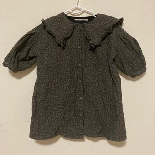 フタフタ(futafuta)の韓国子供服 襟付きワンピース サイズ80-90cm(ワンピース)