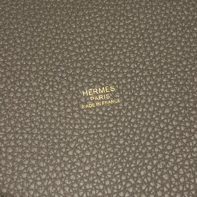 Hermes(エルメス)の新品・国内直営店 ピコタン・ロック 18 PM グリエタン グレー ゴールド金具 レディースのバッグ(ハンドバッグ)の商品写真