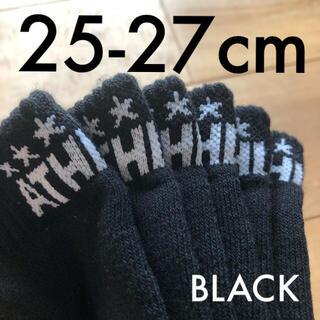 ATHLETA - 3足組ATHLETAアスレタ25-27cmアンクルソックス05240靴下ブラック