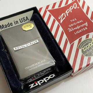 ジッポー(ZIPPO)のzippo ジッポー チタニウムブラック 【購入時コメント不要です】(タバコグッズ)