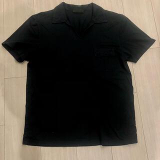 プラダ(PRADA)のPRADA ポロシャツ 紺 M(ポロシャツ)