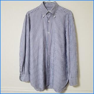 LUIGI BORRELLI - 良品/ルイジボレッリ/ストライプBD/イタリア製ドレスシャツ/ビジネスシャツ