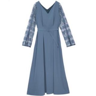 Ameri VINTAGE - Ameri vintage/LACE SLEEVE REFINED DRESS