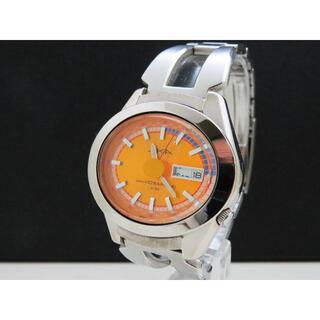 セイコー(SEIKO)のALBA AKA デザインウォッチ デイデイト オレンジ文字盤 SEIKO(腕時計(アナログ))