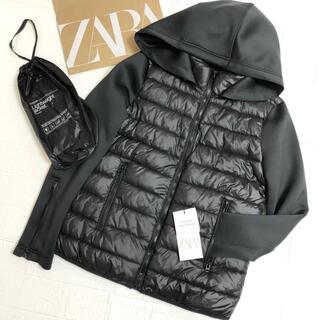 ZARA - ZARA ポケッタブルパフジャケット フード付き 撥水軽量 2way  タグ有り