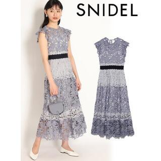 snidel - スナイデル カラーブロッキングレースワンピ