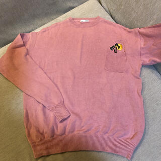 GYDA - ジェイダ  ピンク ニット 胸元ポケット 椰子の木刺繍