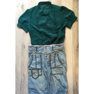スコットクラブ(SCOT CLUB)のスタッズ  刺繍 パンツ(デニム/ジーンズ)