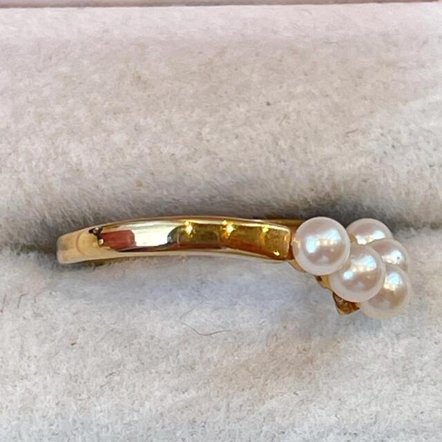 k18  V字パールリング 美品‼️ レディースのアクセサリー(リング(指輪))の商品写真