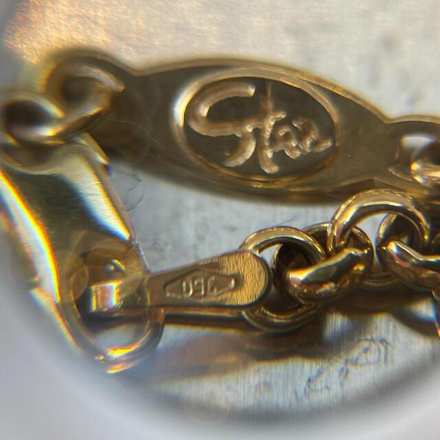 STAR JEWELRY(スタージュエリー)のk18  750 スタージュエリー 幅広あずき型ネックレス 美品‼️ レディースのアクセサリー(ネックレス)の商品写真
