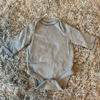 ベビーギャップ(babyGAP)の【未使用】GAP baby ロンパース 新生児 2枚セット グレー(ロンパース)