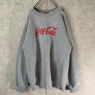 【超可愛い‼︎】コカコーラ 古着 スウェット 刺繍ロゴ 希少 シンプル ゆるだぼ(スウェット)