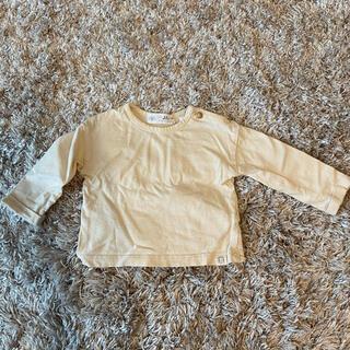 ザラキッズ(ZARA KIDS)の【美品】ZARA ロンT 68cm 3ヶ月〜6ヶ月 クリーム イエロー(Tシャツ)