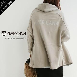 アメリカーナ(AMERICANA)のAMERICANA アメリカーナ 裏毛ショートローブ(トレーナー/スウェット)