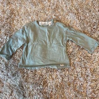 ザラキッズ(ZARA KIDS)の【美品】ZARA ロンT 68cm 3ヶ月〜6ヶ月 グリーン(Tシャツ)