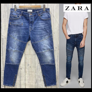 ZARA -  人気 ZARA MAN バイカースキニージーンズ