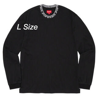 Old English Collar Logo L/S Top Black L(Tシャツ/カットソー(七分/長袖))