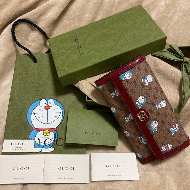 Gucci(グッチ)の【国内正規品】GUCCI × ドラえもん 長財布  フラップウォレット  2 メンズのファッション小物(長財布)の商品写真