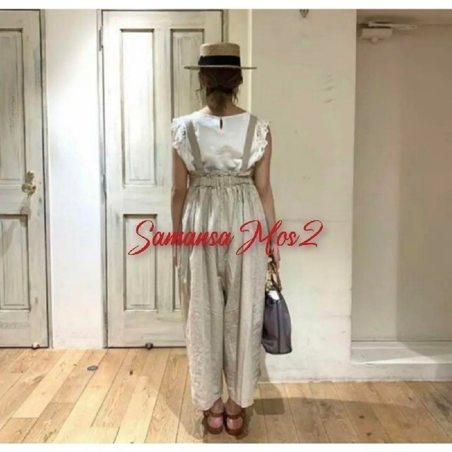 SM2(サマンサモスモス)の昨年購入★サマンサモスモスSM2 リネン混ゆるサロペットパンツ レディースのパンツ(サロペット/オーバーオール)の商品写真