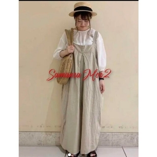 SM2 - 昨年購入★サマンサモスモスSM2 リネン混ゆるサロペットパンツ