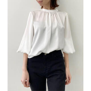 L'Appartement DEUXIEME CLASSE - アパルトモン C/N Gahter Blouse ギャザーブラウス ホワイト