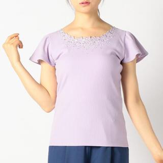 MISCH MASCH - 美品◆元値¥5390 MISCH MASCH 刺繍フラワーリブカットソー