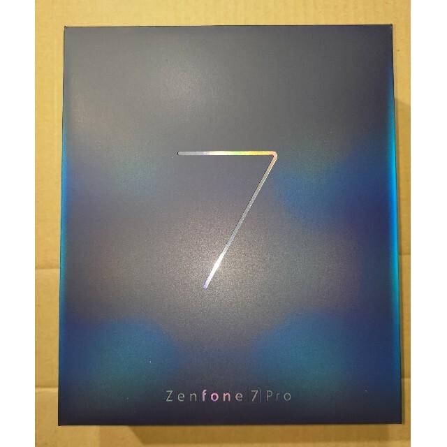 ASUS(エイスース)のZenFone 7 Pro パステルホワイト8GB/256GB/ZS671KS スマホ/家電/カメラのスマートフォン/携帯電話(スマートフォン本体)の商品写真