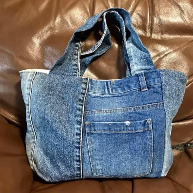 RODEO CROWNS WIDE BOWL(ロデオクラウンズワイドボウル)の未使用デニムハンドバック レディースのバッグ(ハンドバッグ)の商品写真