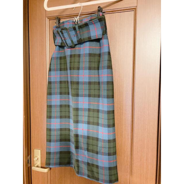 ZARA(ザラ)のZARA ペンシル チェック スカート xs レディースのスカート(ひざ丈スカート)の商品写真