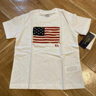 Ralph Lauren - 新品未使用100ラルフローレン Tシャツ ベビー キッズ 星条旗ポロベア