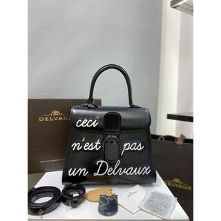 デルボーハンドバッグ ブリヨン レザー ブラック