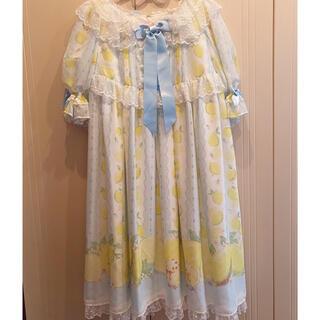 アンジェリックプリティー(Angelic Pretty)のfruity lemon ワンピース 最後値下げ(ひざ丈ワンピース)