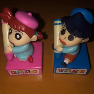 バンダイ(BANDAI)のすき家 3個セット おもちゃのえんぴつキャップ クレヨンしんちゃん (ゲームキャラクター)
