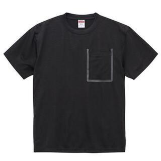6.5オンス ドライコットンタッチ Tシャツ(ポケット付)ブラック Mサイズ