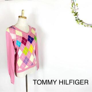 TOMMY HILFIGER - TOMMY HILFIGER Vネック 長袖 ニット セーター S