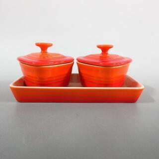ルクルーゼ(LE CREUSET)のルクルーゼ新品同様  - オレンジ 陶器(その他)