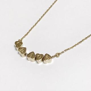 クロエ(Chloe)のクロエ美品  - 金属素材 ゴールド ハート(ネックレス)