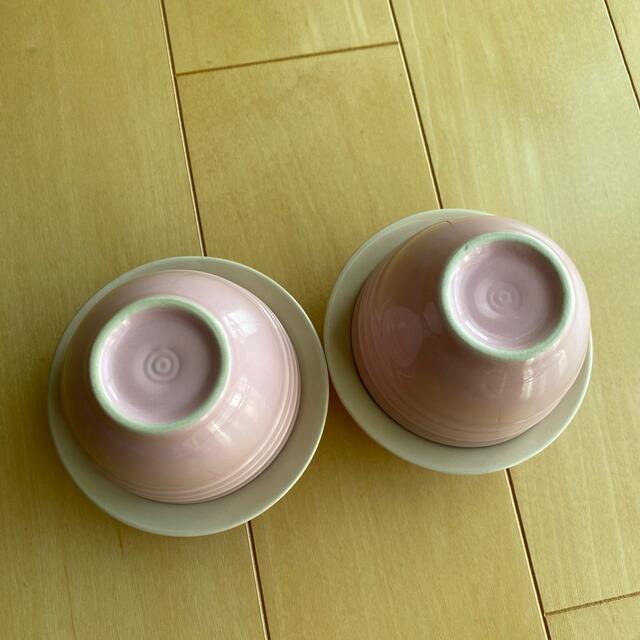 LE CREUSET(ルクルーゼ)のル・クルーゼ ティーカップ&ソーサー ピンク インテリア/住まい/日用品のキッチン/食器(グラス/カップ)の商品写真