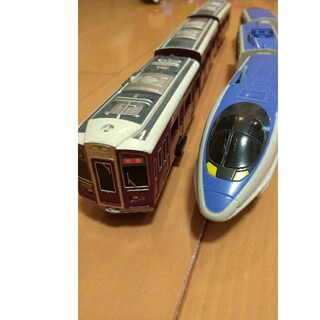 トミー(TOMMY)のプラレール 阪急9000系+新幹線500系(電車のおもちゃ/車)