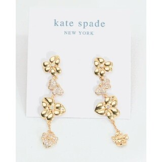 kate spade new york - 【新品】kate spade ケイトスペード ピアス フローラルリニアピアス両耳