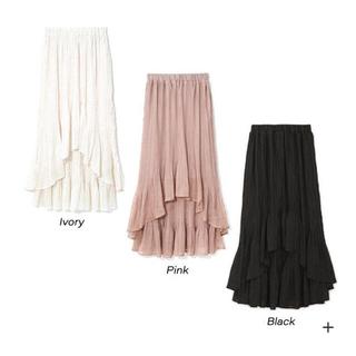 フラワー(flower)のwavy pleats skirt2(ロングスカート)
