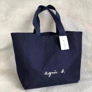 agnes b. - アニエス・ベー ロゴトートバッグ  ネイビー
