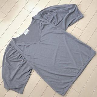 ケービーエフ(KBF)のケービーエフ KBF 7分袖 カットソー 美品 フリーサイズ M グレー(Tシャツ(長袖/七分))