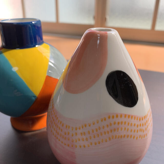 JOYYE  一輪挿し★カラフル・ドロップ 2点 新品未使用 インテリア/住まい/日用品のインテリア小物(花瓶)の商品写真