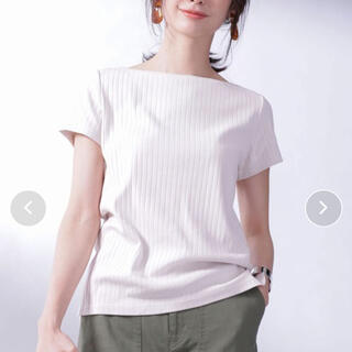 nano・universe - ナノユニバース Anti Soaked RIBボートネックTシャツ