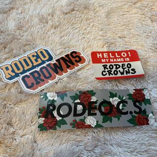 ロデオクラウンズ(RODEO CROWNS)のロデオクラウンズ ♡ステッカー3枚(その他)
