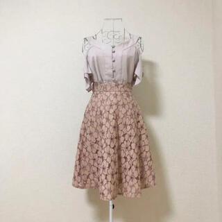 PROPORTION BODY DRESSING - proportion body dressing フラワー フレアスカート